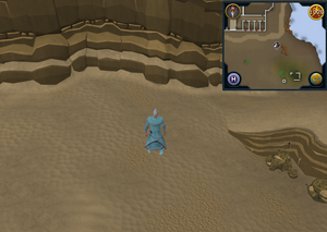 Scan clue Kharidian Desert south-east of Citharede Abbey