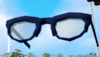 Stylish glasses (blue) detail