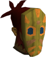 Tribal mask (orange) chathead