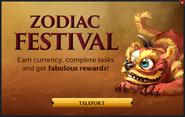 Zodiac Festival popup