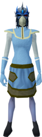Reinforced slayer helmet (f) (blue) equipped