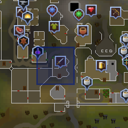 Shopkeeper (Varrock Sword Shop, New Varrock) location