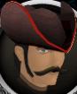 Colonist's hat (orange) chathead