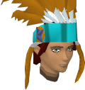 Feather headdress (charged) (orange) chathead
