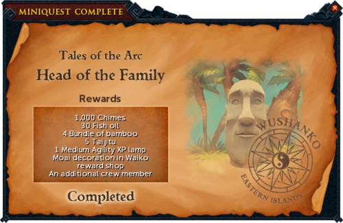 Head of the Family reward