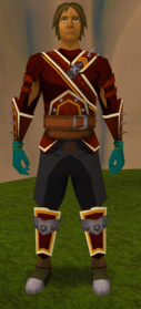Lantadyme gloves equipped
