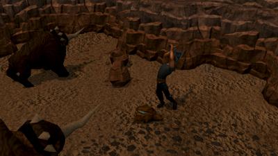 Mining runite ore
