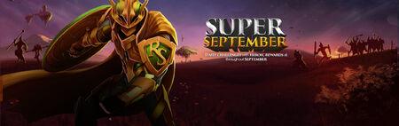 Super September banner