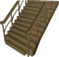 Teak staircase built