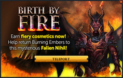 Birth by Fire popup