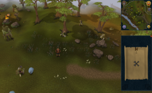 Compass clue Ardougne south-west of Fishing Guild