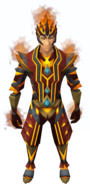 Flameheart armour equipped (male)