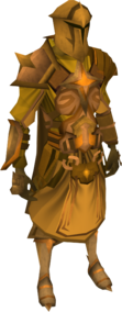 Golden warpriest of Saradomin set equipped