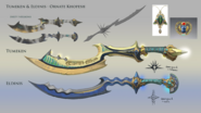 Ornate khopesh concept art