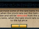 Rare token store