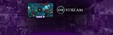 Twitch Livestream head banner
