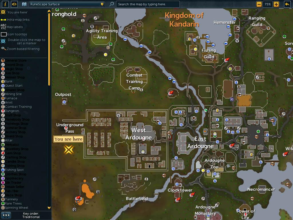 Runescape Full World Map - Design Templates
