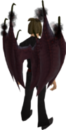 Zamorak wings equipped