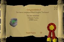 Black Knights Fortress Reward