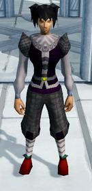 Black elegant clothing equipped (female)