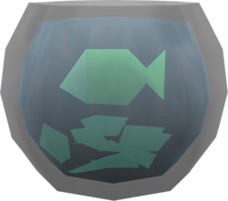 Fishbowl (green fish) pet