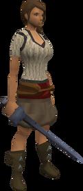 Katagon rapier equipped