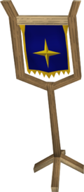 Saradomin symbol built