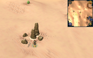 Scan clue Kharidian Desert north-west of oasis