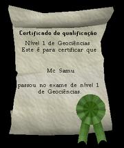 Certificado de Nível 1