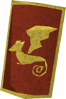 Dragon square shield (or) detail old