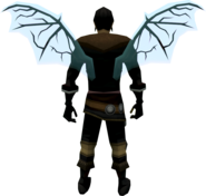 Ethereal wings (death) equipped