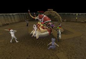 Fighting the Pest Queen