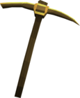Gilded bronze pickaxe detail old