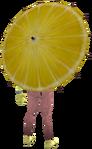 Lemon parasol equipped