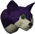Pet cat (purple) chathead