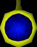 Sapphire amulet (unstrung) detail