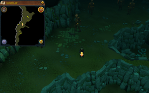 Scan clue Brimhaven Dungeon upper level south of fire giant area