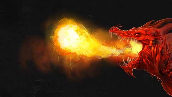 Arte do dragão vermelho
