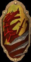 Escudo anti-bafo de dragão detalhe