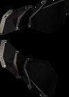 Black gauntlets detail