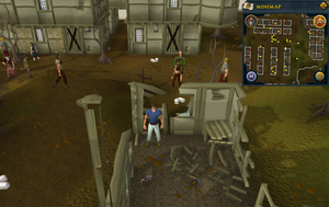Map clue location West Ardougne