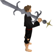 Replica Saradomin godsword equipped