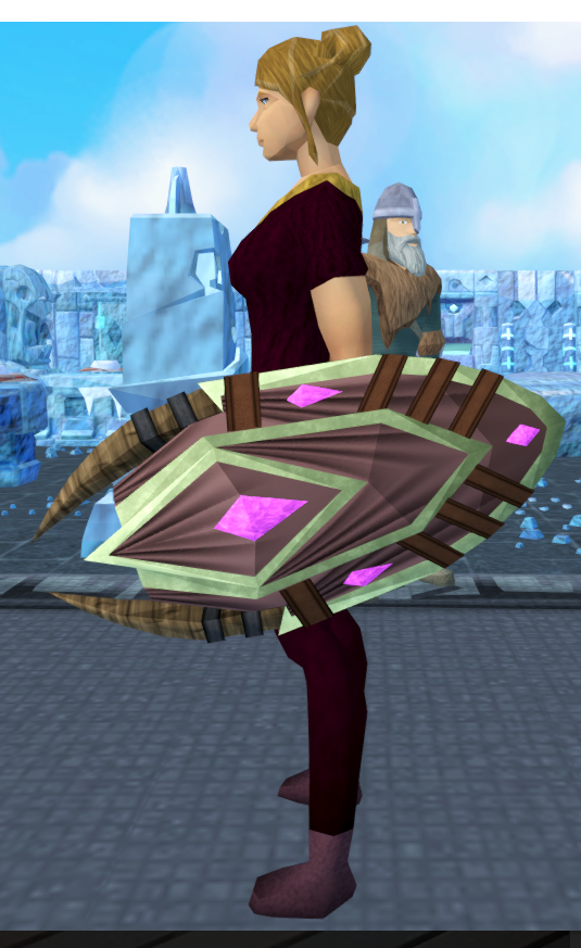 Runic shield equipped