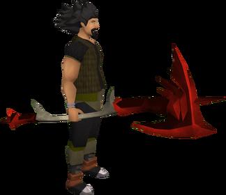 Alabarda dragônica equipada