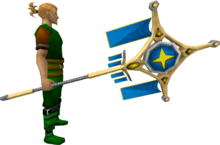 Banner of Saradomin (tier 4) equipped