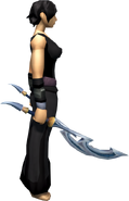 Crescent Blade Offhand equipped