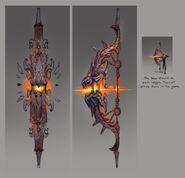 Hellfire bow concept art