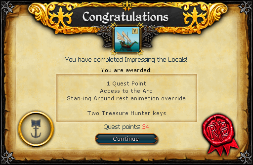 Impressing the Locals reward
