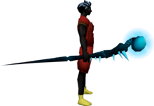Noxious staff (ice) equipped