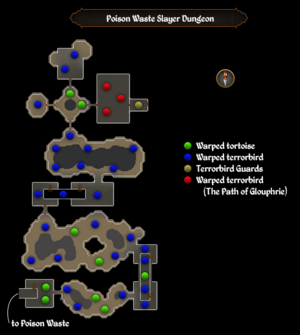 Poison Waste Slayer Dungeon map
